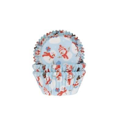 Caissettes bonhommes de neige x50 house of marie