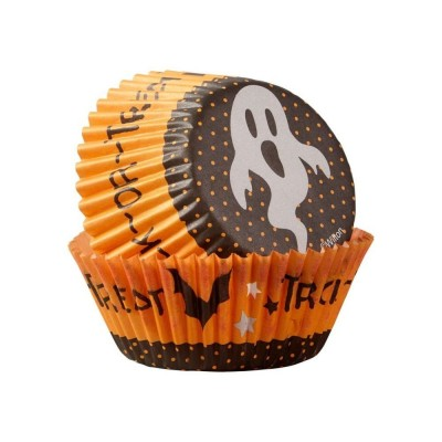 Caissettes Trick or treat x75 wilton
