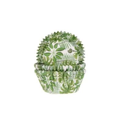 Caissettes feuilles vertes x50