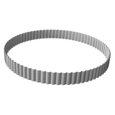 Cercle à tarte perforé cannelé en inox Ø22cm H3cm