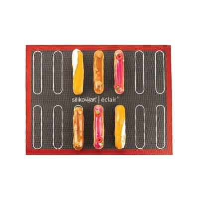 Tapis de cuisson aéré Eclairs & Choux 400 x 300 mm silikomart