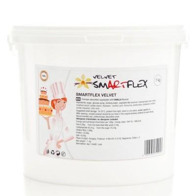 Smartflex pâte à sucre blanc velours vanille - 7kg