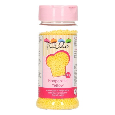 Mini billes de sucre yellow 80g