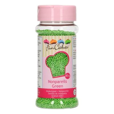 Mini billes de sucre vert 80g