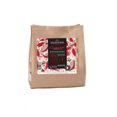 Guanaja 70% - Chocolat de couverture noir en fèves 1kg VALRHONA