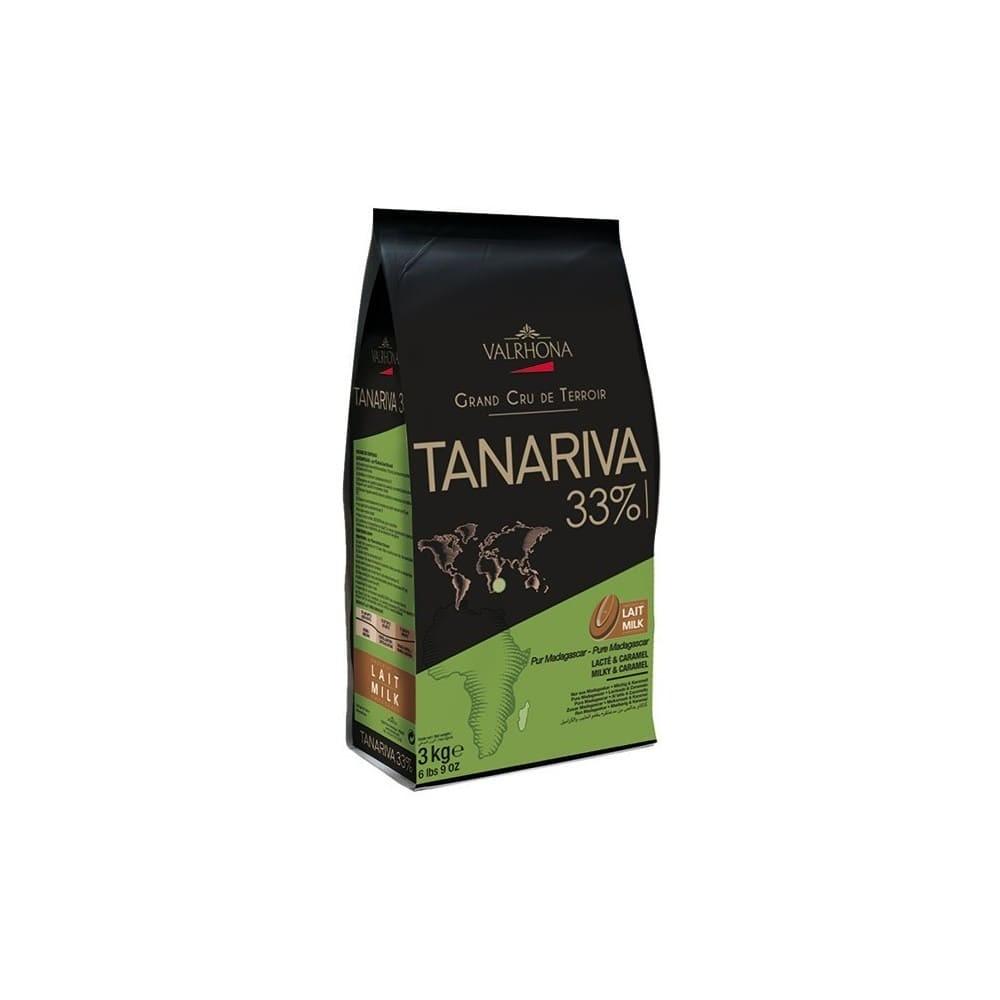 Tanariva 33% - Chocolat de couverture lait en fèves 1kg VALRHONA