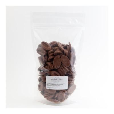 Chocolat de couverture Caramélia 36% de cacao en fèves 1Kg VALRHONA