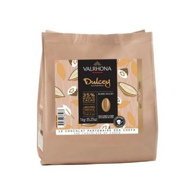 Dulcey 32% - Création gourmande chocolat blond en fèves 1kg VALRHONA