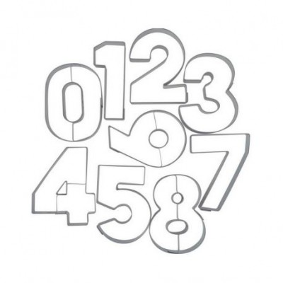 Emporte-pièces kit chiffres 0 à 9
