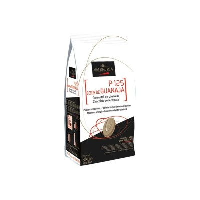 P125 coeur de Guanaja 80% concentré de chocolat en fèves 1Kg VALRHONA