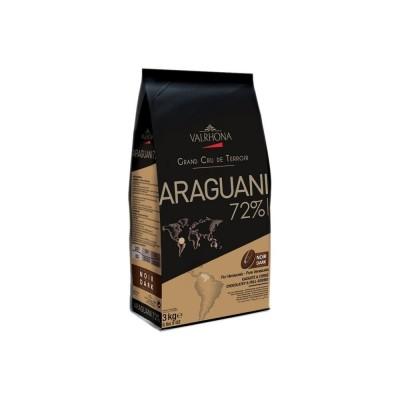 Araguani 72% - Chocolat de couverture noir pur Venezuela en fèves 200g VALRHONA