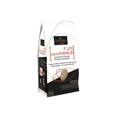 P125 coeur de Guanaja 80% concentré de chocolat en fèves 200g VALRHONA
