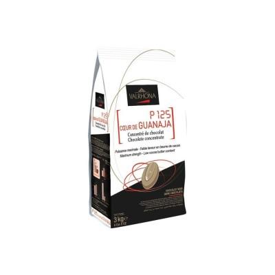 P125 coeur de Guanaja 80% concentré de chocolat en fèves 500g VALRHONA