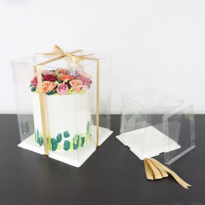 PME Boîte à gâteau Crystal 22x22x30cm