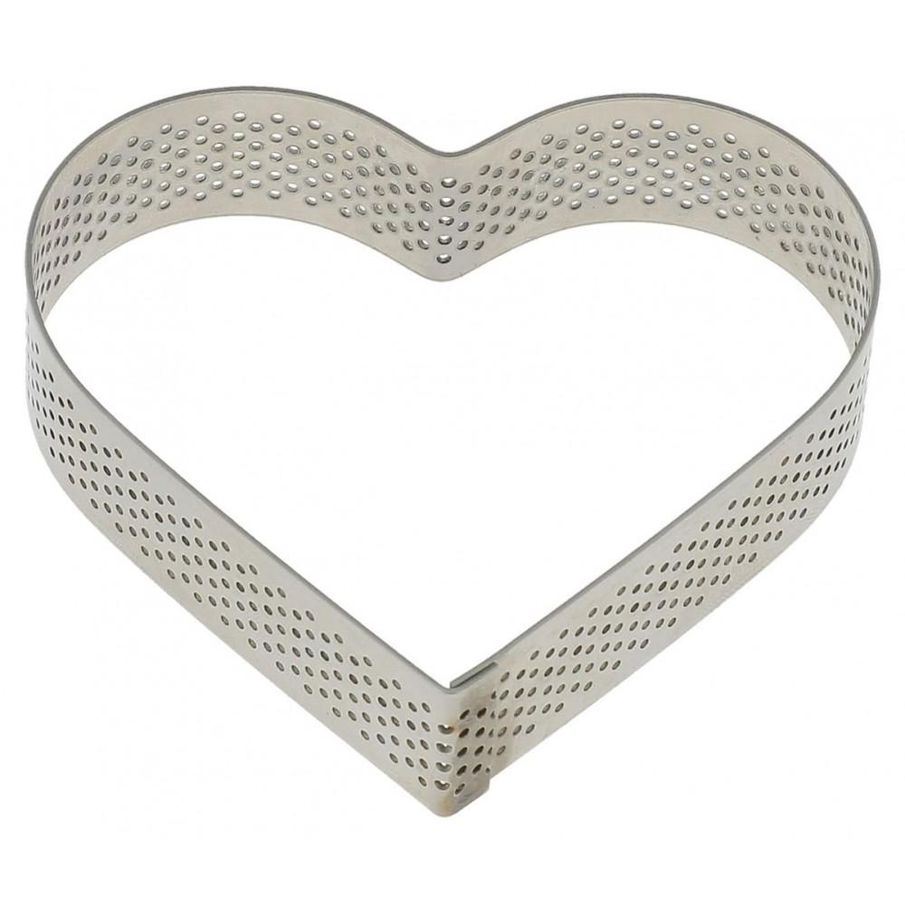 Coeur perforé en inox 8,5x7,5 H2cm