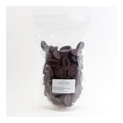 Chocolat de couverture noir Abinao 85% de cacao en fèves 500g VALRHONA