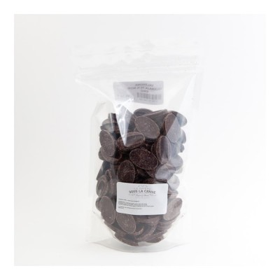 Chocolat de couverture noir Guanaja 70% de cacao en fèves 500g VALRHONA