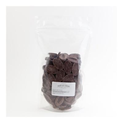 Chocolat de couverture noir Manjari 64% de cacao en fèves 500g VALRHONA