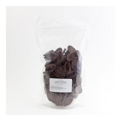 Chocolat de couverture noir Extra Bitter 61% de cacao en fèves 500g VALRHONA