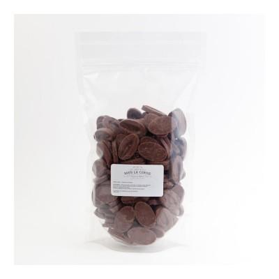 Chocolat de couverture lait Jivara 40% de cacao en fèves 500g VALRHONA