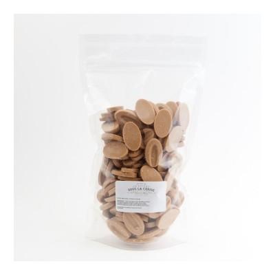 Chocolat de couverture blond Dulcey 32% de cacao en fèves 500g VALRHONA