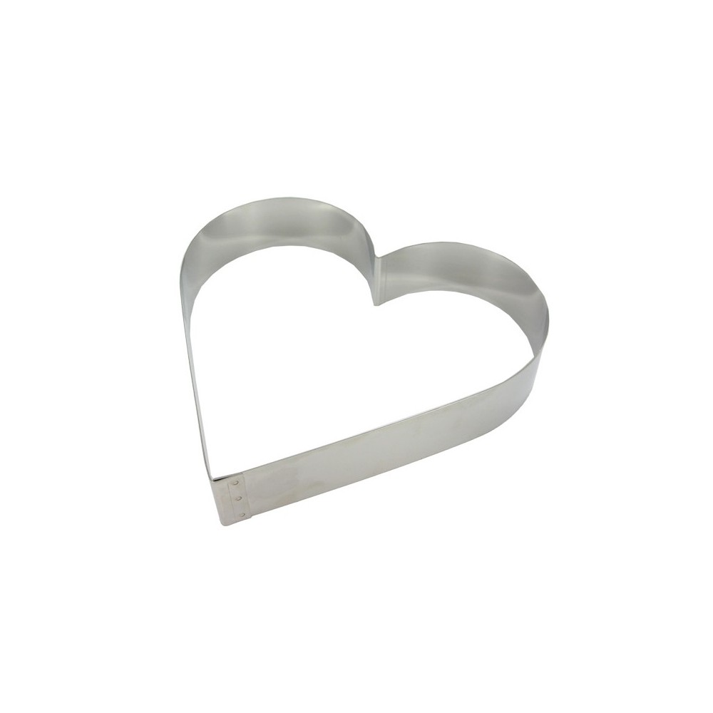 Cercle mousse coeur en inox 20cm