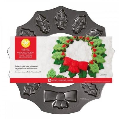 Plaque à biscuits couronne de Noël