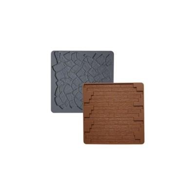 Tapis de modelage en silicone bois/pierre