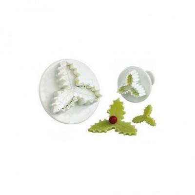 Découpoirs poussoirs feuilles de houx /2