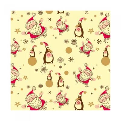 Feuilles de transfert pingouin et Père Noël x2 Valrhona