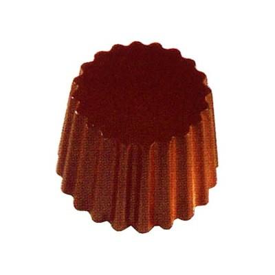 Moule à chocolat en polycarbonate rond nervuré cabrellon