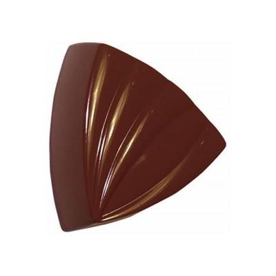 Moule à chocolat en polycarbonate triangle rayé