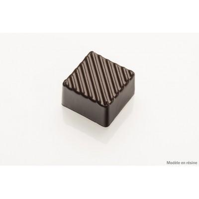 Moule à chocolat carré strié cabrellon